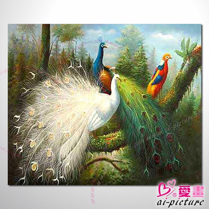 动物王国 孔雀12 油画 装饰品 山水画 艺术品 插画 无
