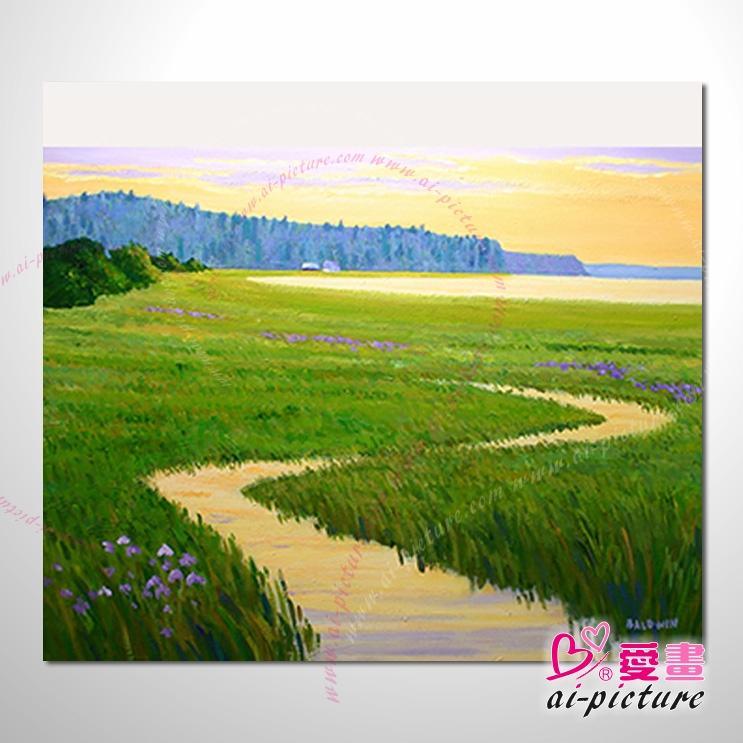 067花田景色 香气 乡村风景 山水油画 纯手绘 油画 装饰 挂画 田园