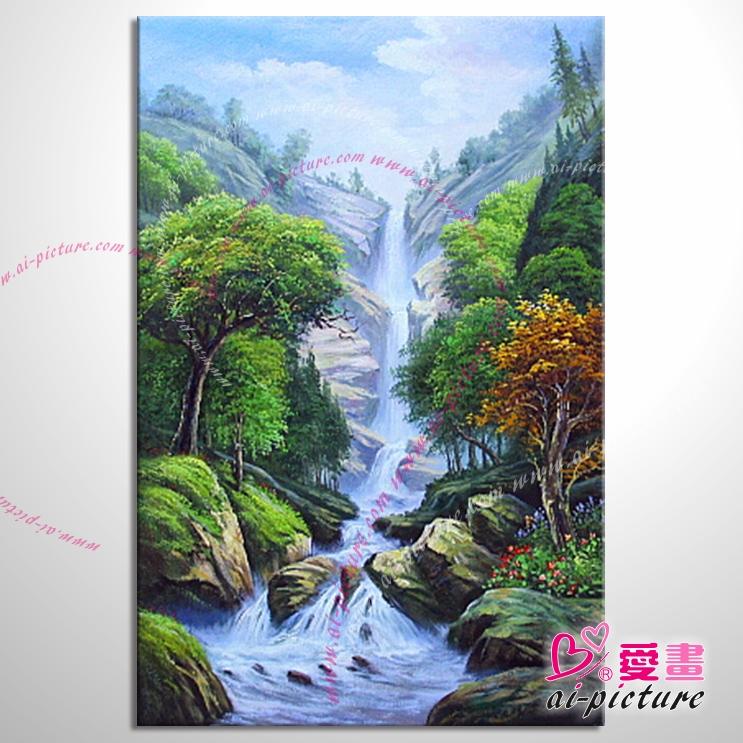【五路财神八方聚财】129 纯手绘 油画 元宝山 招财壁画 山水画 聚宝