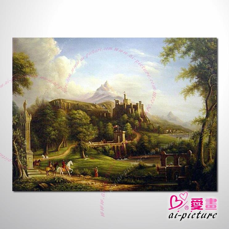 欧式风景39 油画 装饰品 山水画 艺术品 插画 无框画