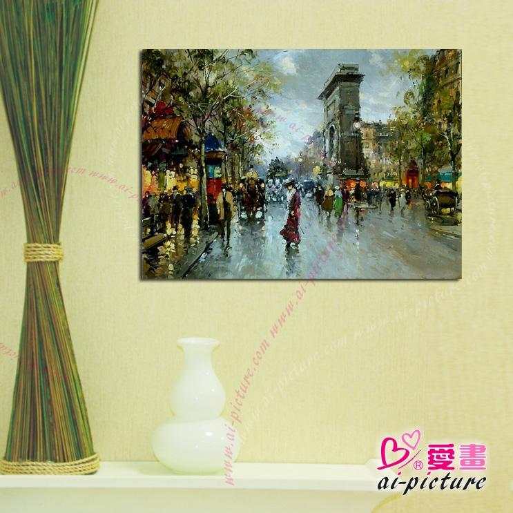 流光溢彩街景15 风景油画 装饰品 山水画 艺术品 插画