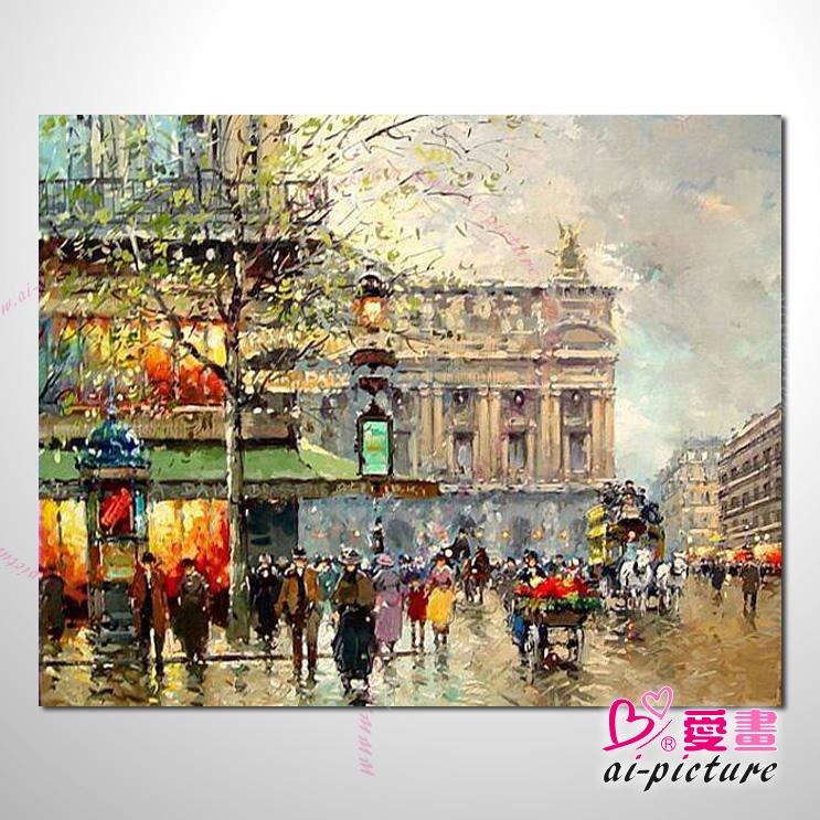 流光溢彩街景20 风景油画 装饰品 山水画 艺术品 插画